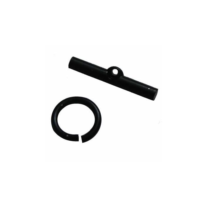 Stick clasp, color : black