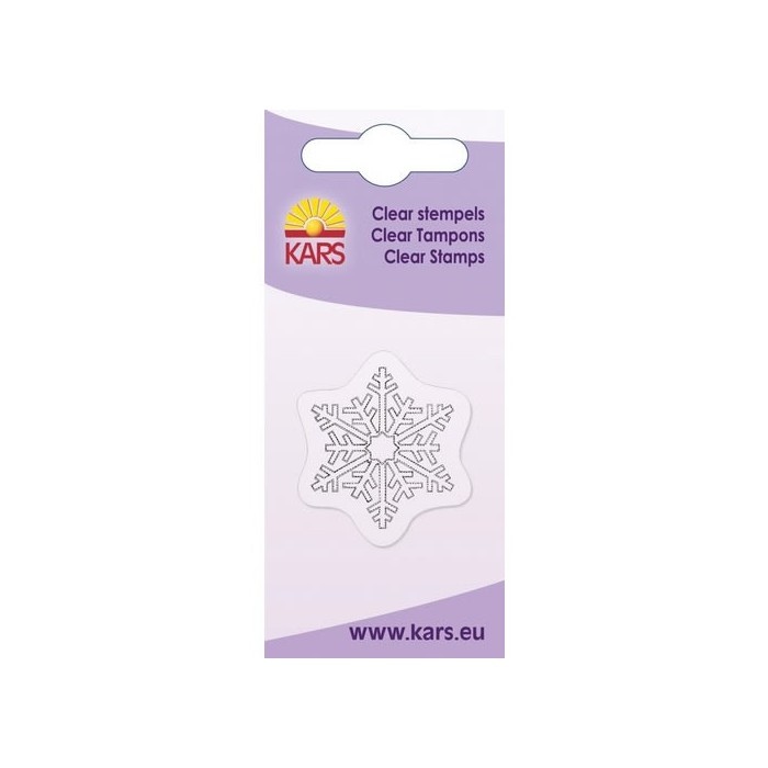 Clear stamp, snowflake