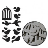 Maya Road - Chipboard Set Mini Birds & Cages