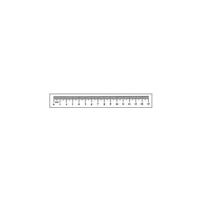 Clear stamp, Metric rule 15cm