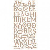 Basic Grey - Monogram stickers, brown