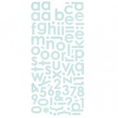 Basic Grey - Monogram stickers, bleu glacier