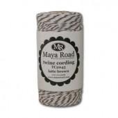 Maya Road - Twine cording, brun/blanc