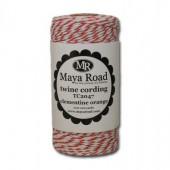 Maya Road - Twine cording, clementine orange