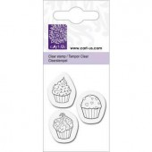 Clear stamp, cupcakes