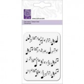 Clear stamp, music notes