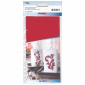 Wax sheet, deep red