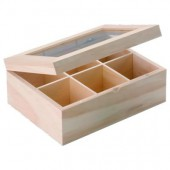 Tea box 6 compartments 22x16x9cm