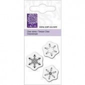 Clear stamp, snowflakes