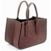 Felt bag, brown 38x20x24cm