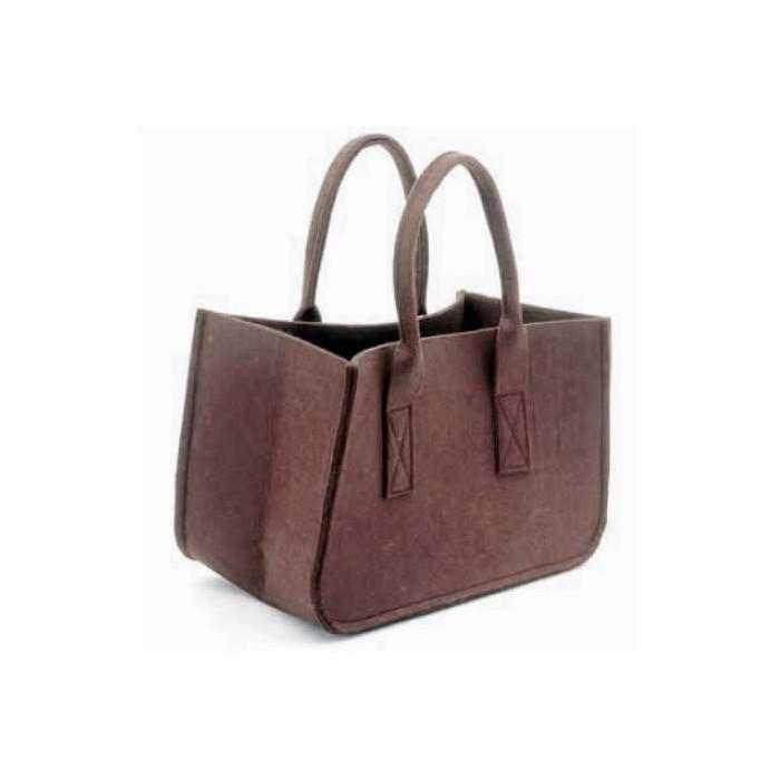 Felt bag, brown 38x20x24cm