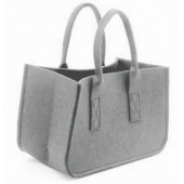 Felt bag, grey 38x20x24cm