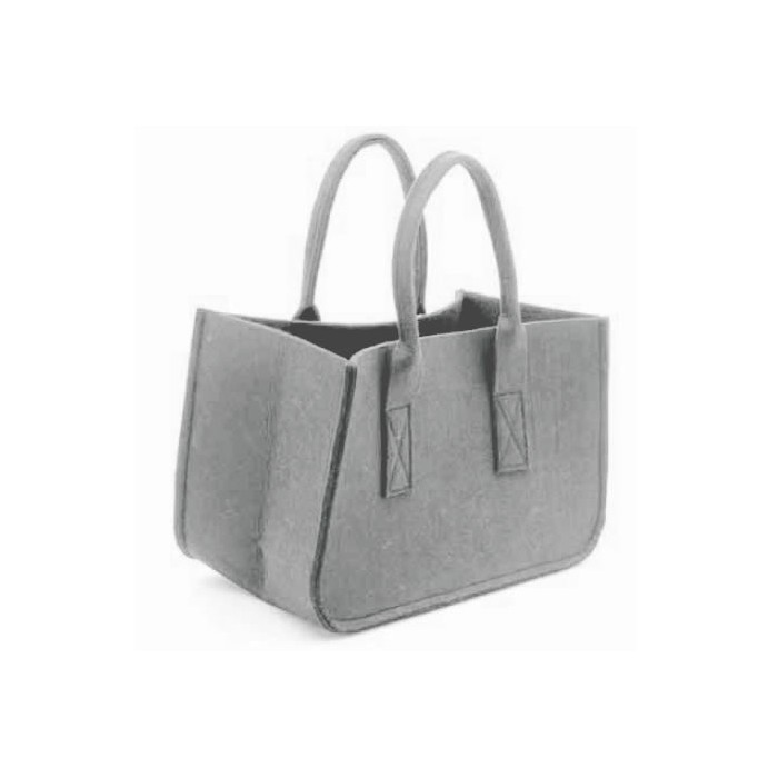 Felt bag, grey 38x20x24cm