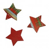 Stars red/green, 3.7cm, 8 pcs