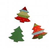 Trees red/green, 3.7cm, 8 pcs