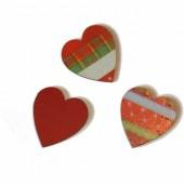Coeurs rouge/vert, 3.7cm, 8 pcs