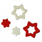 Foam Stars, red/white, 12/25mm