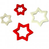 Foam Stars, red/white, 22/36mm