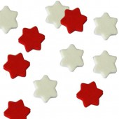 Foam Stars, red/white, 10mm