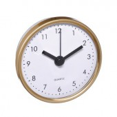 Insert clock, Gold, 70mm