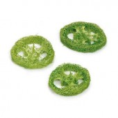 Luffa-Slices, green, 3 pcs