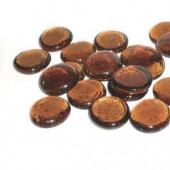 Glass nuggets, Ø2cm brown, 200g