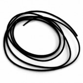 Lacet coton, noir, 1mm/10m