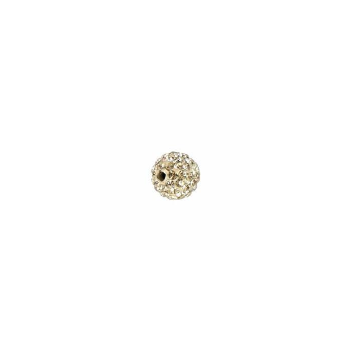 Shamballa Style Beads, 10mm, crystal, 4 pcs