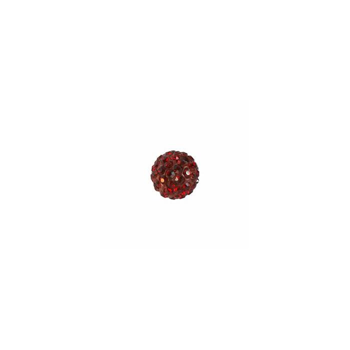Shamballa Style Beads, 10mm, siam, 4 pcs