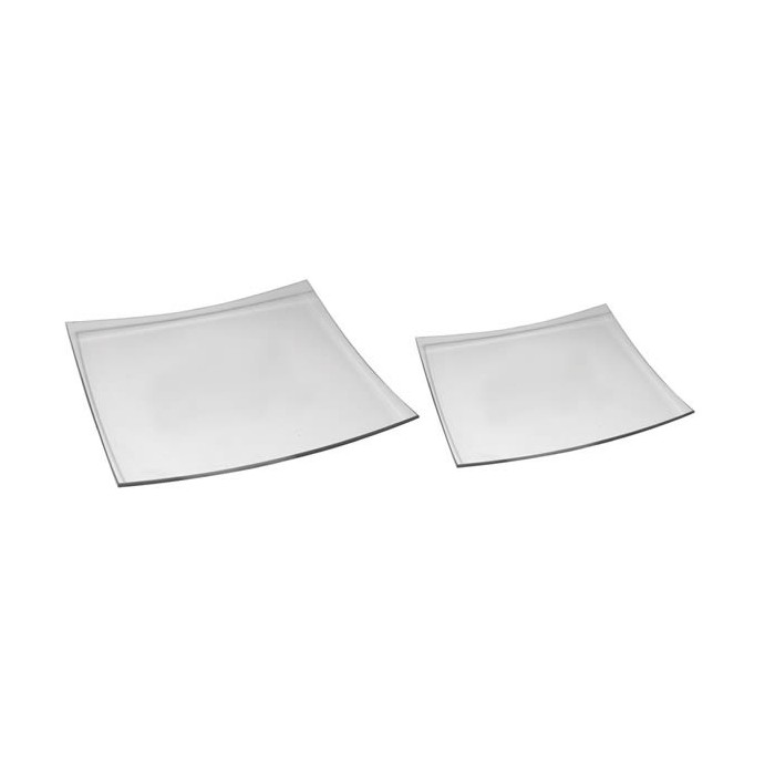 Set of two glass plates