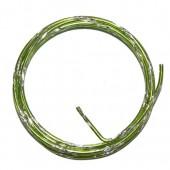 Fil aluminium bicolore Ø 2mm/2m, vert/argent