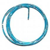 Fil aluminium bicolore Ø 2mm/2m, turquoise/argent