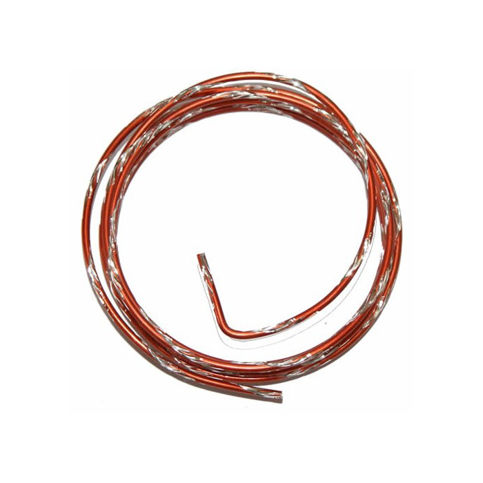 Bicolor alu wire, Ø 2mm/2m, orange/silver