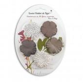 Toga - Fleurs en papier brun/beige