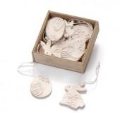 Easterbox, cream, 4cm, 12 pcs, with glue dot