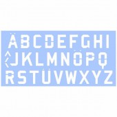 Stencil Alphabet 15x33cm