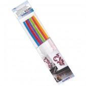 Decorative wax strips rainbow