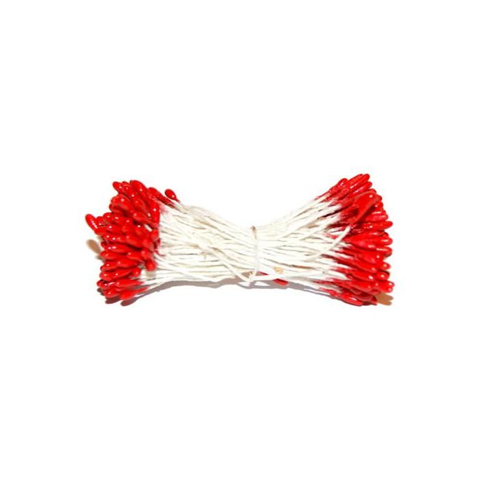 Pistils, 2mm, red, 288 heads