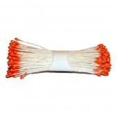 Pistils / étamines 2mm, orange 288 têtes