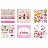 "Assorted napkins ""Lovely Cupcakes"""