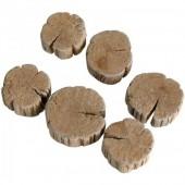 Arandelas de madera, +/- 240g