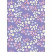 Tissu Alice, 45x55cm, Flowers lavender