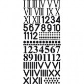 Adhesive numbers and symbols for clocks, black