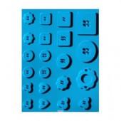 """Moule en silicone """"boutons"""", 13x18.5cm"""