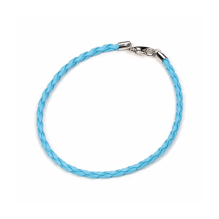 Artificial leather bracelet, turquese