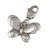 Charm pendant butterfly 15x23mm
