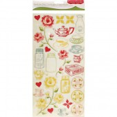Cosmo Cricket - Ready set Chipboards Tea for Two