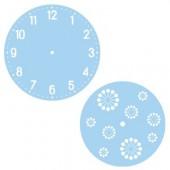 Duo de pochoirs horloge, chiffres arabes, Ø28cm + Ø18cm