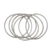 Bracelets extensibles en métal, argent, 6 pcs