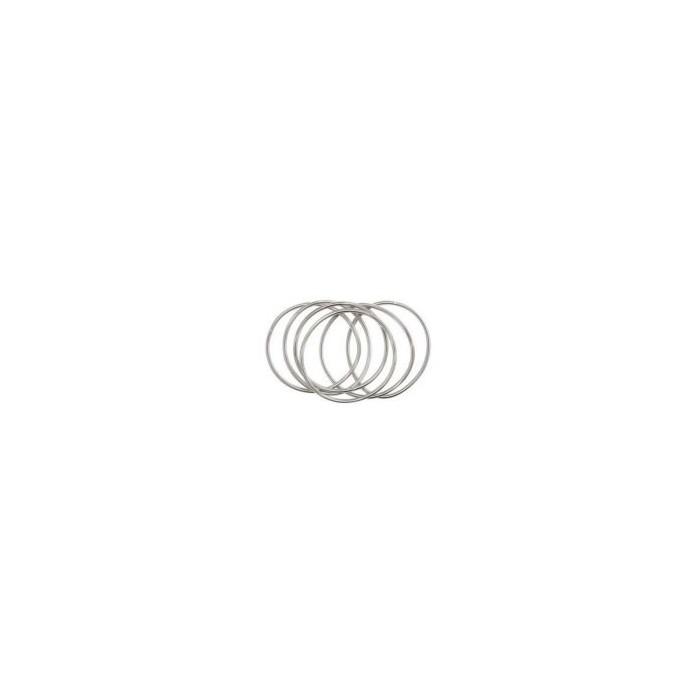 Metallic extensible bracelet, silver, 6 pcs